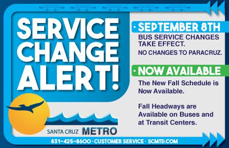 Santa Cruz Metro Fall Service Changes [image]