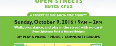 Open Streets Santa Cruz Returns Oct 9