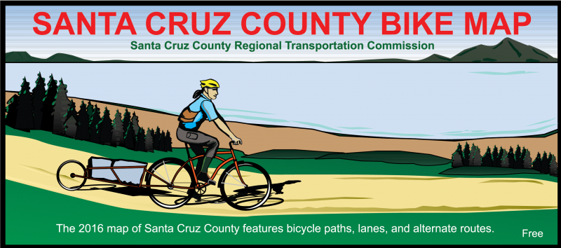 2016 Santa Cruz County Bike Map - front cover