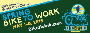 Banner advertisement for Bike to Work Spring 2015