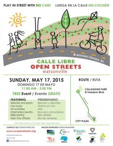 Open Streets Watsonville Poster