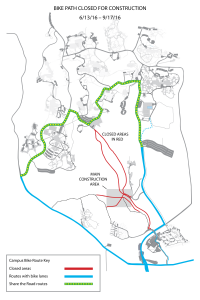 UCSC main bike path closed for construction