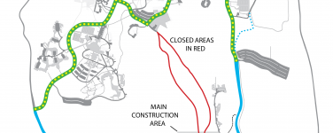UCSC Main Bike Path Closed June 13-Sept 17, 2016