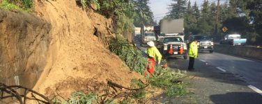 Highway 17 closed in BOTH directions due to unstable hillside.