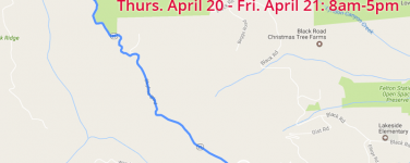 Daytime Full Closures on Highway 35 (Bear Creek Road) In Santa Cruz County on 4/20 – 4/21