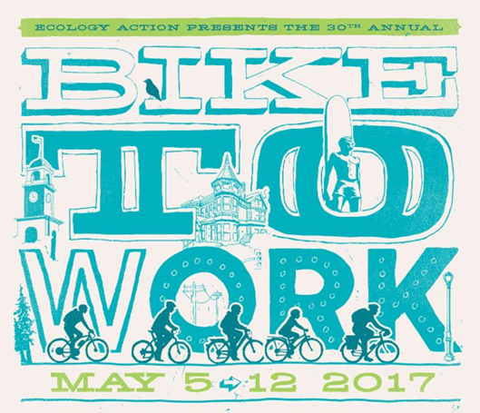 Bike To Work Santa Cruz For 30 years, Ecology Action has been organizing the Bike To Work program in Santa Cruz County. The program happens every May and October and now represents the largest sustainable transportation event in the region and serves a combined total of over 13,000 residents every year.