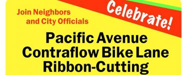 Celebrate New Pacific Avenue Contraflow Bike Lane on June 27