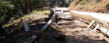 Storm Damage Repairs on Bear Creek Road (Santa Clara County) Continues